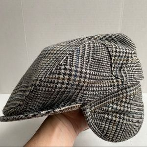 Vintage Thinsulate Lined Houndstooth Wool Hat